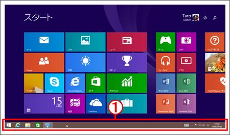 デスクトップ以外でもタスクバーが表示可能に